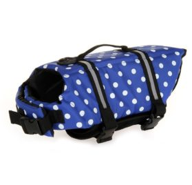 Ltuotu Assorted Color Choice Pet Dog Life Jacket Quick Release Easy-Fit Adjustable Pet Saver Life Jacket Dog Life Preserver Dog Life Vest