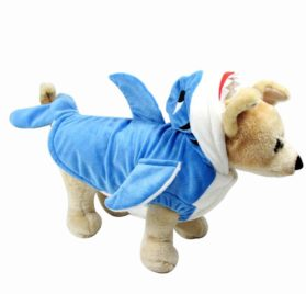 Mangostyle Pet Style Shark Jaws Fancy Dress Costume Outfit Adorable Blue Shark Pet Costume Hoodie Coat for Dogs and Cats 2