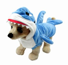 Mangostyle Pet Style Shark Jaws Fancy Dress Costume Outfit Adorable Blue Shark Pet Costume Hoodie Coat for Dogs and Cats