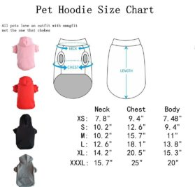 Pet Black L Dog Fleece Coat Sweater Jumpsuit Puppy Cat Hoodie Sweatshirt Clothes Apparel with Pockets 2