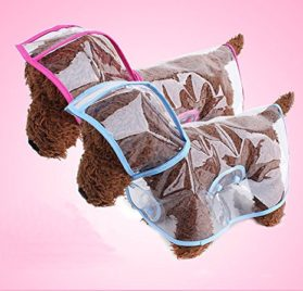 Pet Raincoat , Small Dog Waterproof Clothes Rain Jacket Puppy Transparent Poncho Rainwear Clothes for Small Dog 2