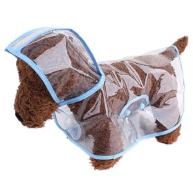 Pet Raincoat , Small Dog Waterproof Clothes Rain Jacket Puppy Transparent Poncho Rainwear Clothes for Small Dog