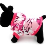 SELMAI Pet Camo Hoodies Dog Camouflage Print Hoodie Shirt for Small Dog Cat Puppy Pink 2