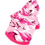 SELMAI Pet Camo Hoodies Dog Camouflage Print Hoodie Shirt for Small Dog Cat Puppy Pink 6
