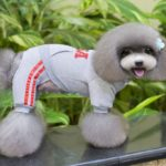 SELMAI USA Dog Jumpsuit Four-leg Pet Hoodies Puppy Coat Doggie Jacket Warm Clothes with Pants for Small Dogs Gray S 3