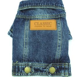 SMALLLEE_LUCKY_STORE Pet Small Dog Cat Clothes Classic Denim Jacket Coat Male Costume Blue S