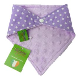 Dimples Dog Bandana - Purple Polka Dots (handmade for all sizes and breeds) 2