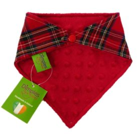 Dimples Dog Bandana - Red Tartan (handmade for all sizes and breeds) 2