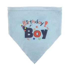 Dog Birthday Bandana Pet Scarf Blue 2