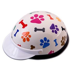 Helmet for Dogs, Cats and All Small Pets, Pet Accessory - Bones & Paws for small dogs 5-10 lbs