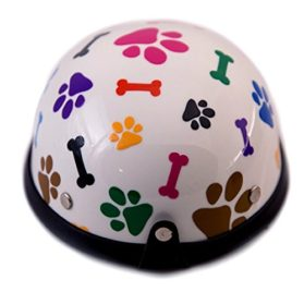 Helmet for Dogs, Cats and All Small Pets, Pet Accessory - Bones & Paws for small dogs 5-10 lbs 3