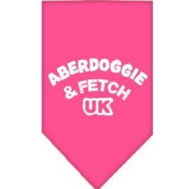 Mirage Pet Products Aberdoggie UK Screen Print Bandana for Pets, Small, Bright Pink