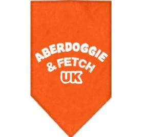 Mirage Pet Products Aberdoggie UK Screen Print Bandana for Pets, Small, Orange