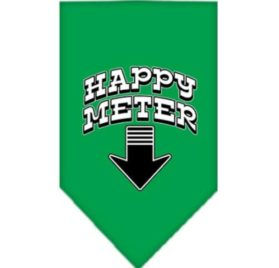 Mirage Pet Products Happy Meter Screen Print Bandana for Pets, Small, Emerald Green