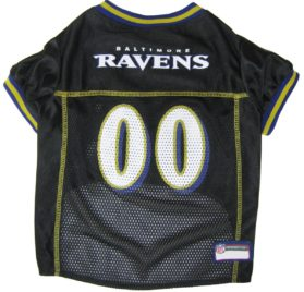 NFL PET JERSEY Football Licensed Dog Jersey 32 NFL Teams Available Comes in 6 Sizes Football Pet Jersey Sports Mesh Jersey Dog Jersey Outfit (Baltimore Ravens) 2
