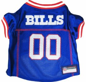 NFL PET JERSEY Football Licensed Dog Jersey 32 NFL Teams Available Comes in 6 Sizes Football Pet Jersey Sports Mesh Jersey Dog Jersey Outfit (Buffalo Bills) 2