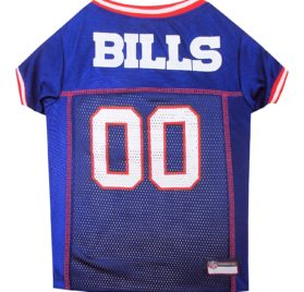 NFL PET JERSEY Football Licensed Dog Jersey 32 NFL Teams Available Comes in 6 Sizes Football Pet Jersey Sports Mesh Jersey Dog Jersey Outfit (Buffalo Bills)