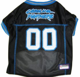 NFL PET JERSEY Football Licensed Dog Jersey 32 NFL Teams Available Comes in 6 Sizes Football Pet Jersey Sports Mesh Jersey Dog Jersey Outfit (Carolina Panthers) 2