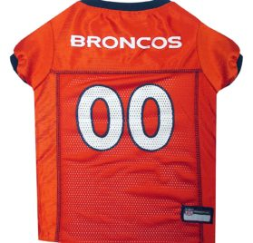 NFL PET JERSEY Football Licensed Dog Jersey 32 NFL Teams Available Comes in 6 Sizes Football Pet Jersey Sports Mesh Jersey Dog Jersey Outfit (Denver Broncos)