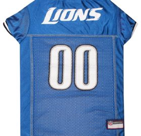 NFL PET JERSEY Football Licensed Dog Jersey 32 NFL Teams Available Comes in 6 Sizes Football Pet Jersey Sports Mesh Jersey Dog Jersey Outfit (Detroit Lions)