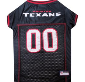 NFL PET JERSEY Football Licensed Dog Jersey 32 NFL Teams Available Comes in 6 Sizes Football Pet Jersey Sports Mesh Jersey Dog Jersey Outfit (Houston Texans)