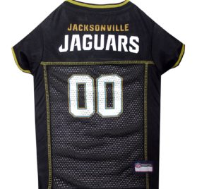 NFL PET JERSEY Football Licensed Dog Jersey 32 NFL Teams Available Comes in 6 Sizes Football Pet Jersey Sports Mesh Jersey Dog Jersey Outfit (Jacksonville Jaguars)