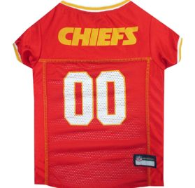 NFL PET JERSEY Football Licensed Dog Jersey 32 NFL Teams Available Comes in 6 Sizes Football Pet Jersey Sports Mesh Jersey Dog Jersey Outfit (Kansas City Chiefs)