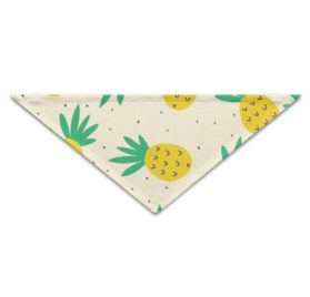 PETLOVEPET Summer Pineapple Pattern Triangle Pet Scarf Dog Bandana Pet Collars For Dog Cat One Size