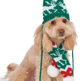 Rubies Costume Company Knit Winter Scarf and Hat Set for Pet