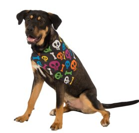 Rubies Costume Neon Skulls and Bones Dog Bandana