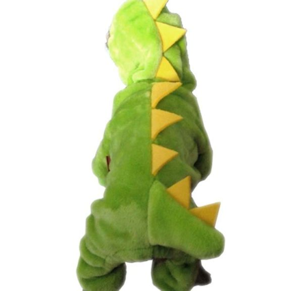 ARJOSA Puppy Dog Cat Thickened Hoodie Jumpsuit Dinosaur Dragon Costume Winter Coat Clothes