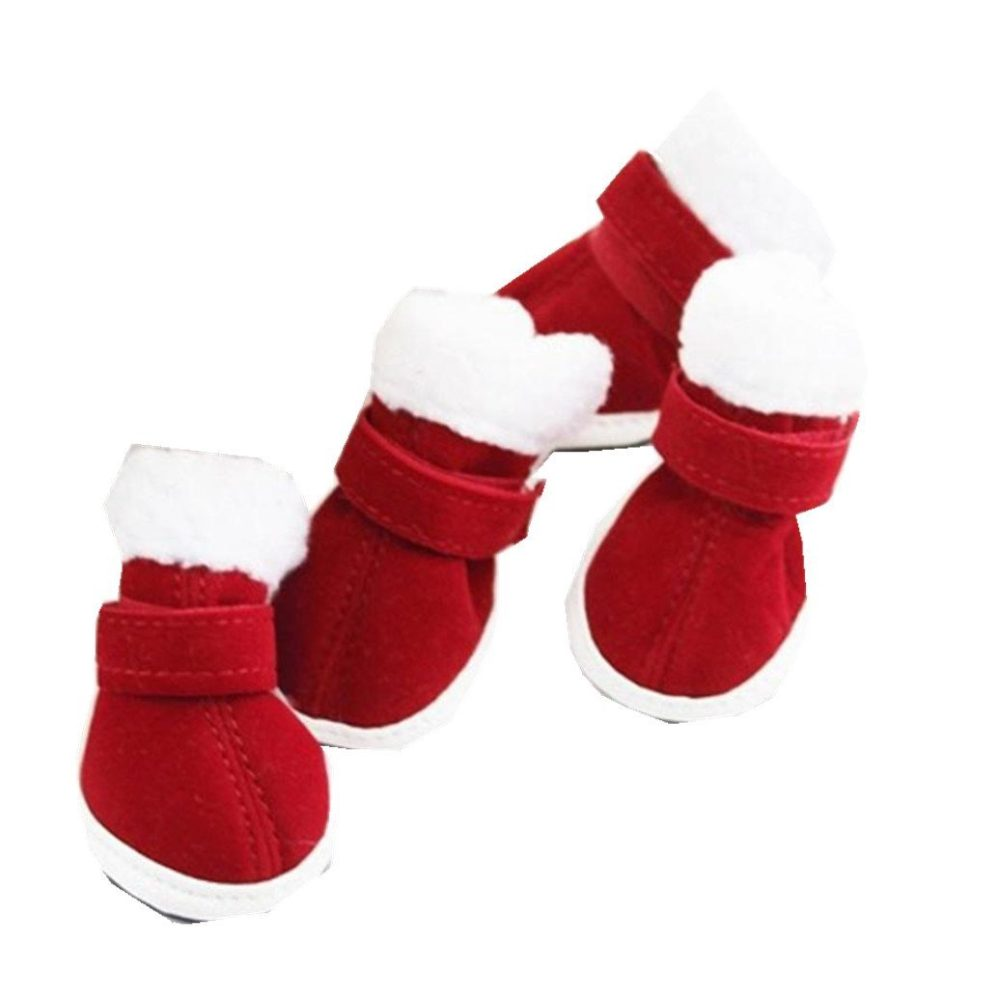 elevintm1set christmas dress up pet dog chihuahua snow warm boots puppy shoes for small dog