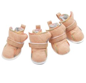 Elevin(TM)4Pcs Cute Fancy Dress Up Pet Dog Chihuahua Breathable Sport Pawks Boots Puppy Snow Warm Boots Shoes for Small Dog