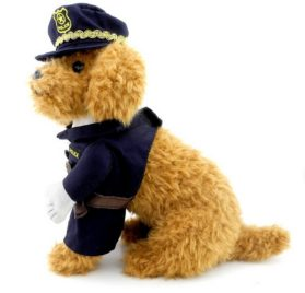 PETLOVE Small Puppy Pet under 20 pounds Dog Cat Policeman Costume Police Hat 2