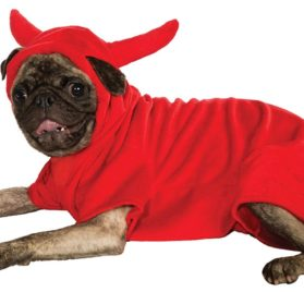 Rubie's Pet Costume, Small, Fleece Devil Dawg Costume Hoodie