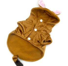SELMAI Chihuahua Clothes Cosplay Costume Dog Lion Costume Dog Coat Trim Hooded Mane Horse Halloween Costume Giraffe Dog Winter Jacket 2