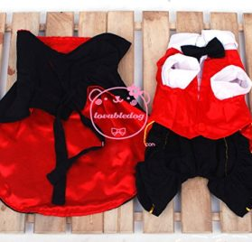 SMALLLEE_LUCKY_STORE Cat Dog Clothes Black Red Vampire Jumpsuit Cloak Coat Costume Small Dog Clothes 2