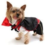 SMALLLEE_LUCKY_STORE Cat Dog Clothes Black Red Vampire Jumpsuit Cloak Coat Costume Small Dog Clothes 3