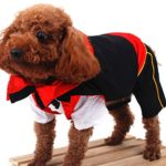 SMALLLEE_LUCKY_STORE Cat Dog Clothes Black Red Vampire Jumpsuit Cloak Coat Costume Small Dog Clothes 4