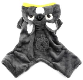 SMALLLEE_LUCKY_STORE Pet Clothes for Small Dog Cat Fleece Koala Costume Party Halloween Fancy Dress Grey 2