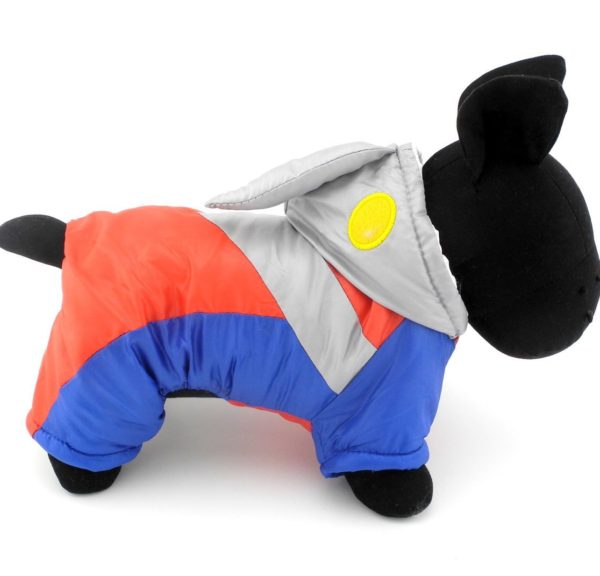 SMALLLEE_LUCKY_STORE Pet Clothes for Small Dog Cat Ultraman Costume with Hood Padded Jacket Coat Halloween Clothing