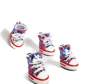 Toy to Small Dog Sneakers Canvas Shoes For Yorkie Chihuahua Pom Shih Tzu Maltese