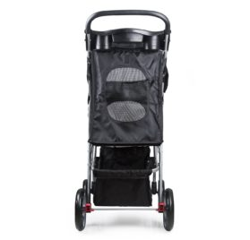 PetsN'all Foldable Pet Stroller With Wheel Carrier Strolling Cart - Black 7