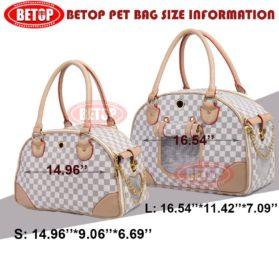BETOP Fashion Dog Carrier PU Leather Dog Handbag Dog Purse Cat Tote Bag Pet Cat Dog Hiking Bag 6