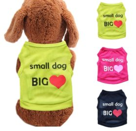 Binmer(TM) Lovely Small Dog Big Love Letters Dog Vest Shirt Puppy Costume Summer Apparel for Chihuahua Poodle Teddy