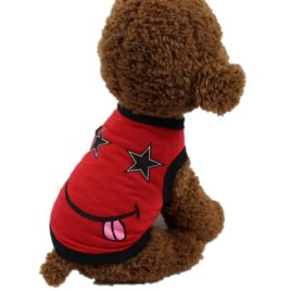 Binmer(TM) Lovely Small Dog Smile Face Vest Shirt Puppy Costume Summer Apparel for Chihuahua Poodle Teddy