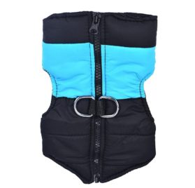 Binmer(TM)Small Medium Dog Winter Quilted Puffer Puffa Vest Coat harness Jacket Dog Clothes
