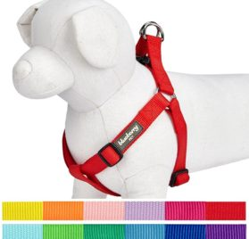 Blueberry Pet Classic Solid Color Adjustable Dog Harness, 12 Colors, Matching Collar & Leash Available Separately