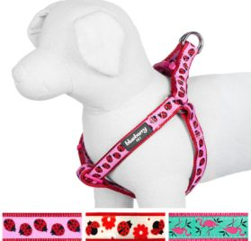Blueberry Pet Pink Flamingo or Ladybug Designer Dog Harness, Matching Collar & Leash Available Separately