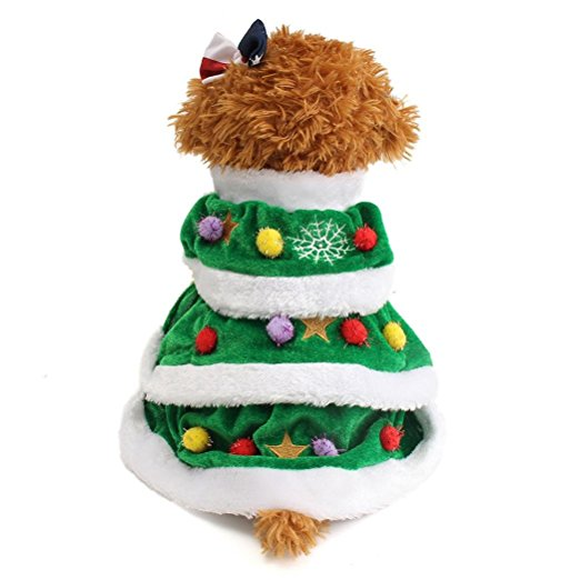 Christmas Tree Gates For Dogs: DIGOOD Christmas Small Dog Cat Tree Keep Warm Hooded Sweater